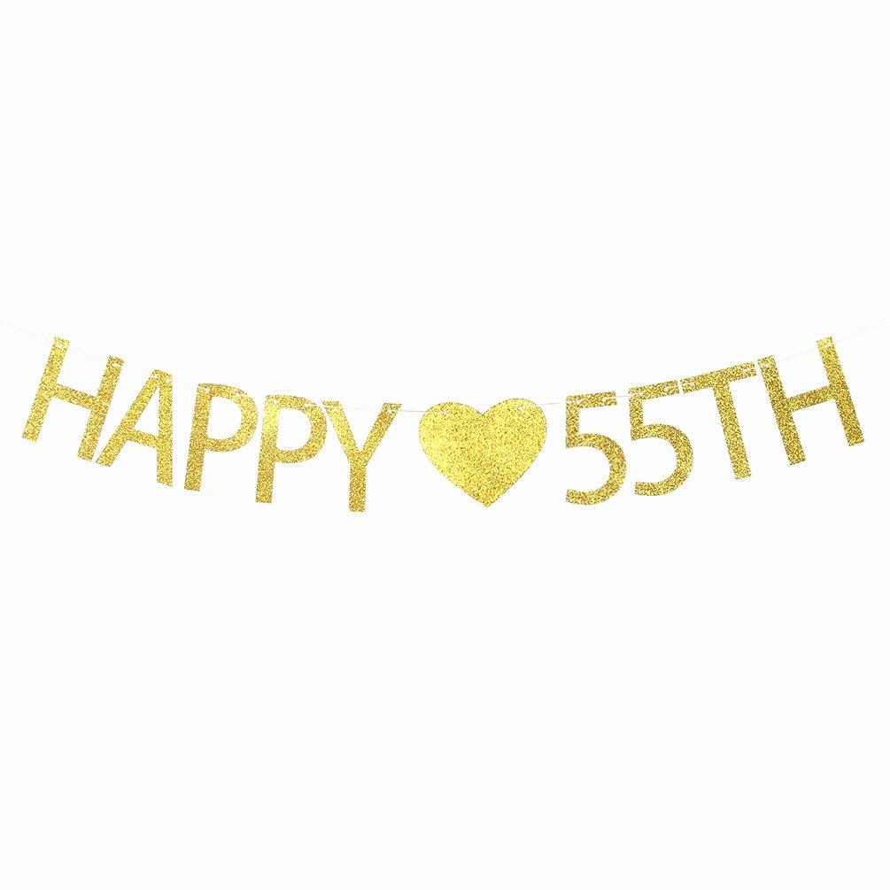 Happy 55th Birthday Images New Amazon Firefairy™ 55 & Fabulous Cursive Banner Happy