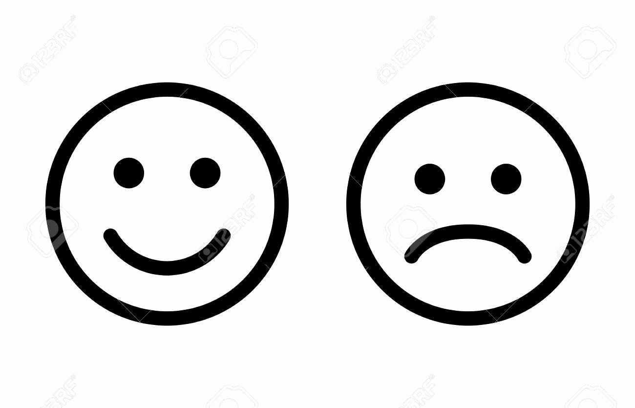 Happy and Sad Emoji Elegant Happy Sad Faces
