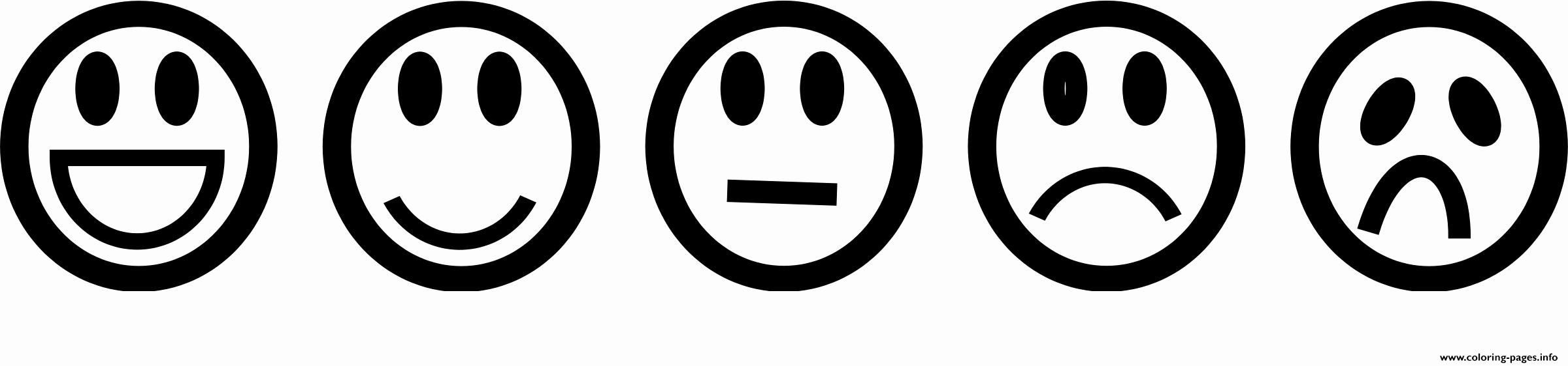 Happy and Sad Emoji Inspirational Emoji List Smile Sad Happy Coloring Pages Printable