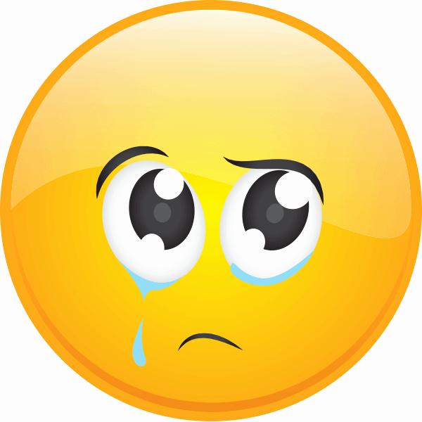 Happy and Sad Emoji Inspirational Upset Smiley Emoticons