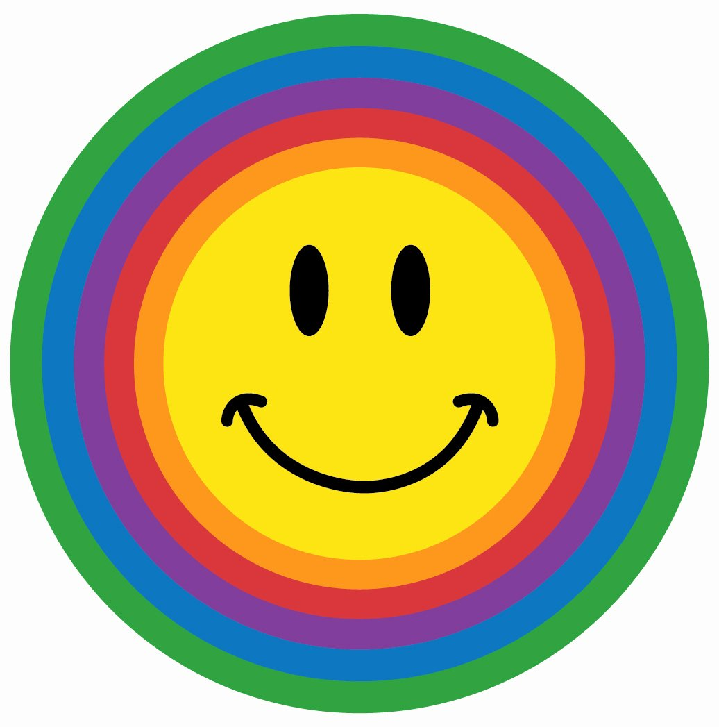 Happy and Sad Emoji Unique Susan S School Daze Rainbow Color Smileys