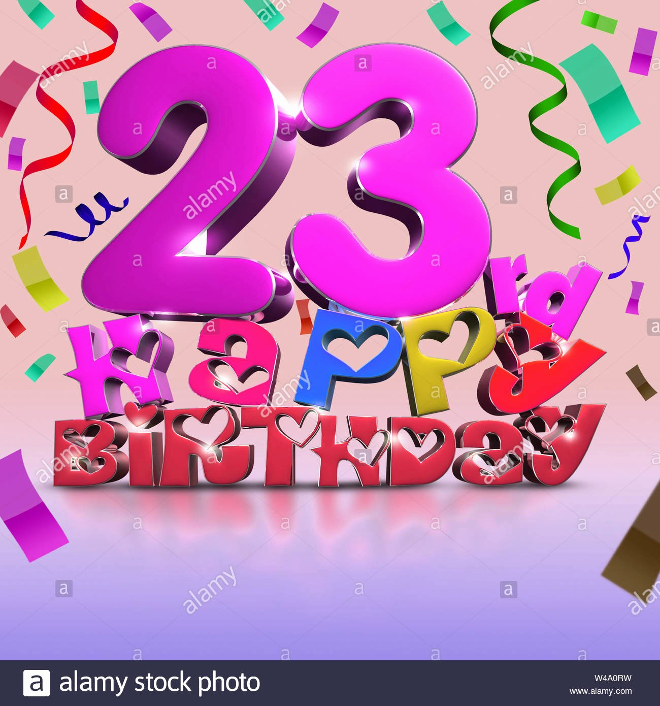 Happy Birthday 3d Images Awesome 23 Rd Happy Birthday 3d Rendering Ribbon as Background