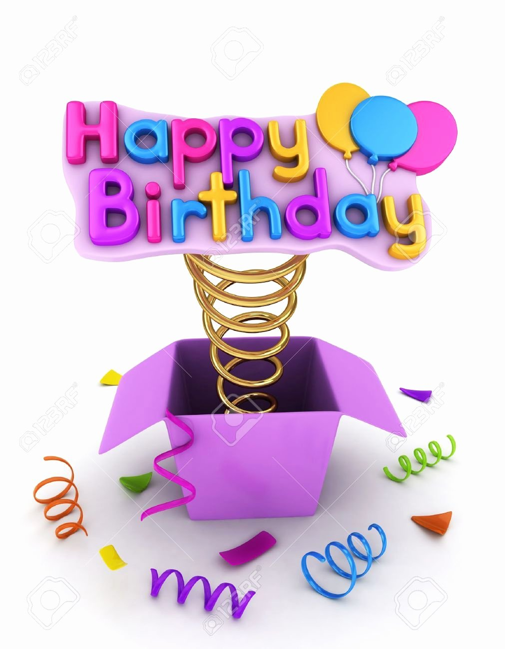 Happy Birthday 3d Images Inspirational 3d Illustration Of A Gift Box with A Pop Up Happy