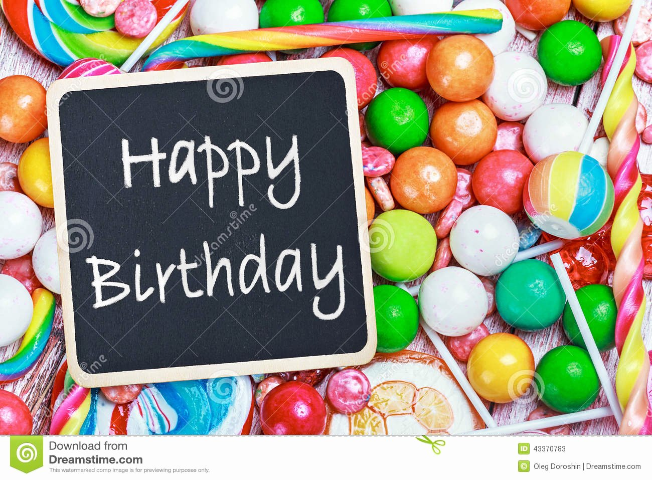 Happy Birthday Candy Images Beautiful Blackboard with Congratulations to the Happy Birthday