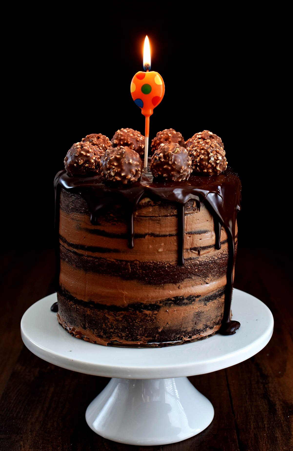 Happy Birthday Candy Images Fresh Chocolate Hazelnut Semi Naked Cake with Dark Chocolate