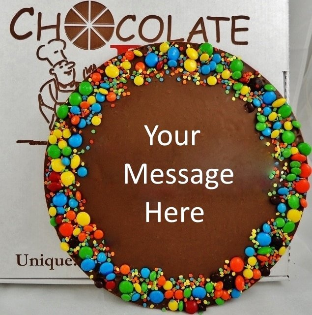 Happy Birthday Candy Images New Personalized Chocolate Gifts Build A Chocolate Pizza