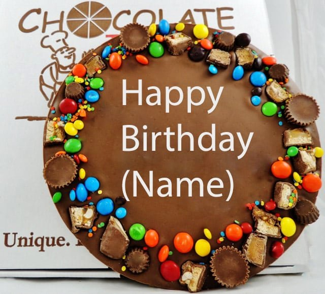 Happy Birthday Candy Images New Personalized Happy Birthday Chocolate Pizza