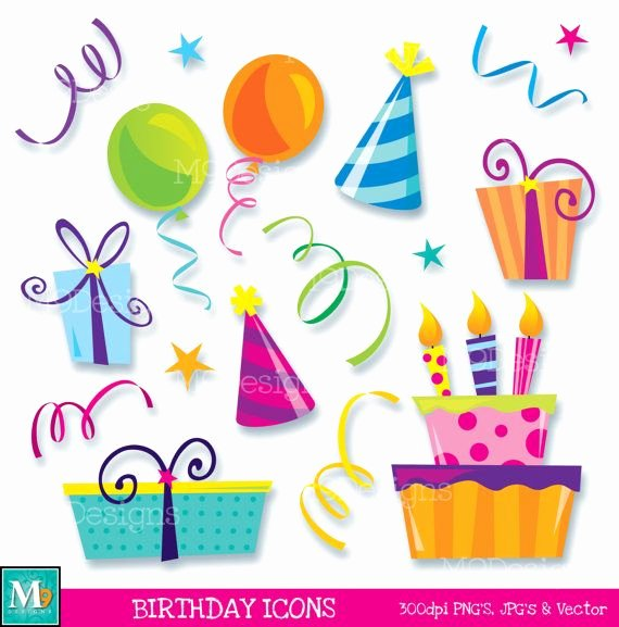 Happy Birthday Icons Free Best Of Happy Birthday Icons Clipart Illustrations Instant