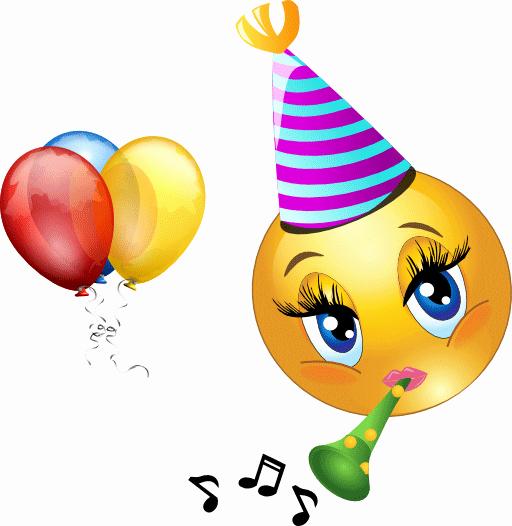 Happy Birthday Icons Free Elegant Celebrating Smiley Birthday Emoticons