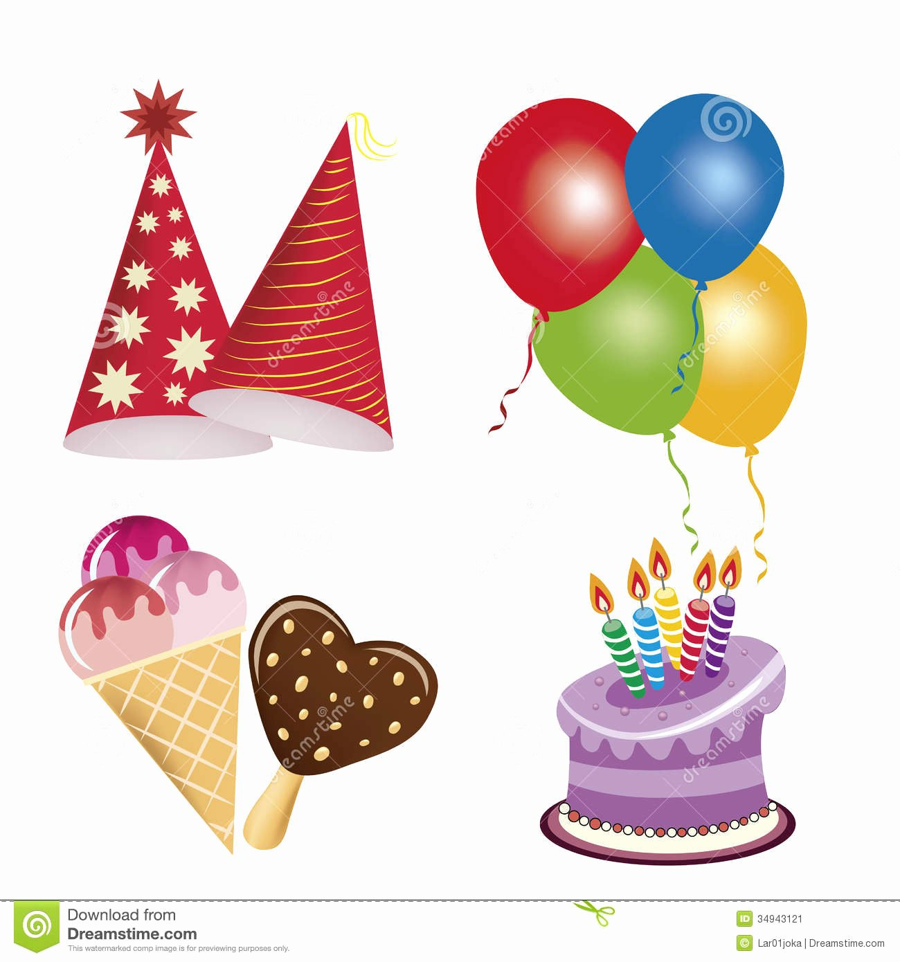 Happy Birthday Icons Free Elegant Icons for Happy Birthday Stock Vector Image Of Invitation