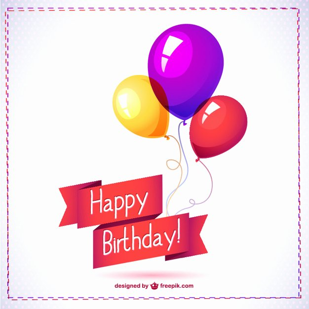 Happy Birthday Icons Free Inspirational Happy Birthday Balloon Free Graphics Vector