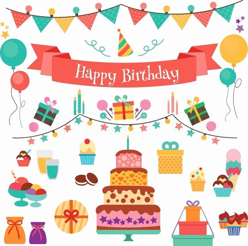 Happy Birthday Icons Free Inspirational Happy Birthday Vector Concept Set Of Birthday Holiday
