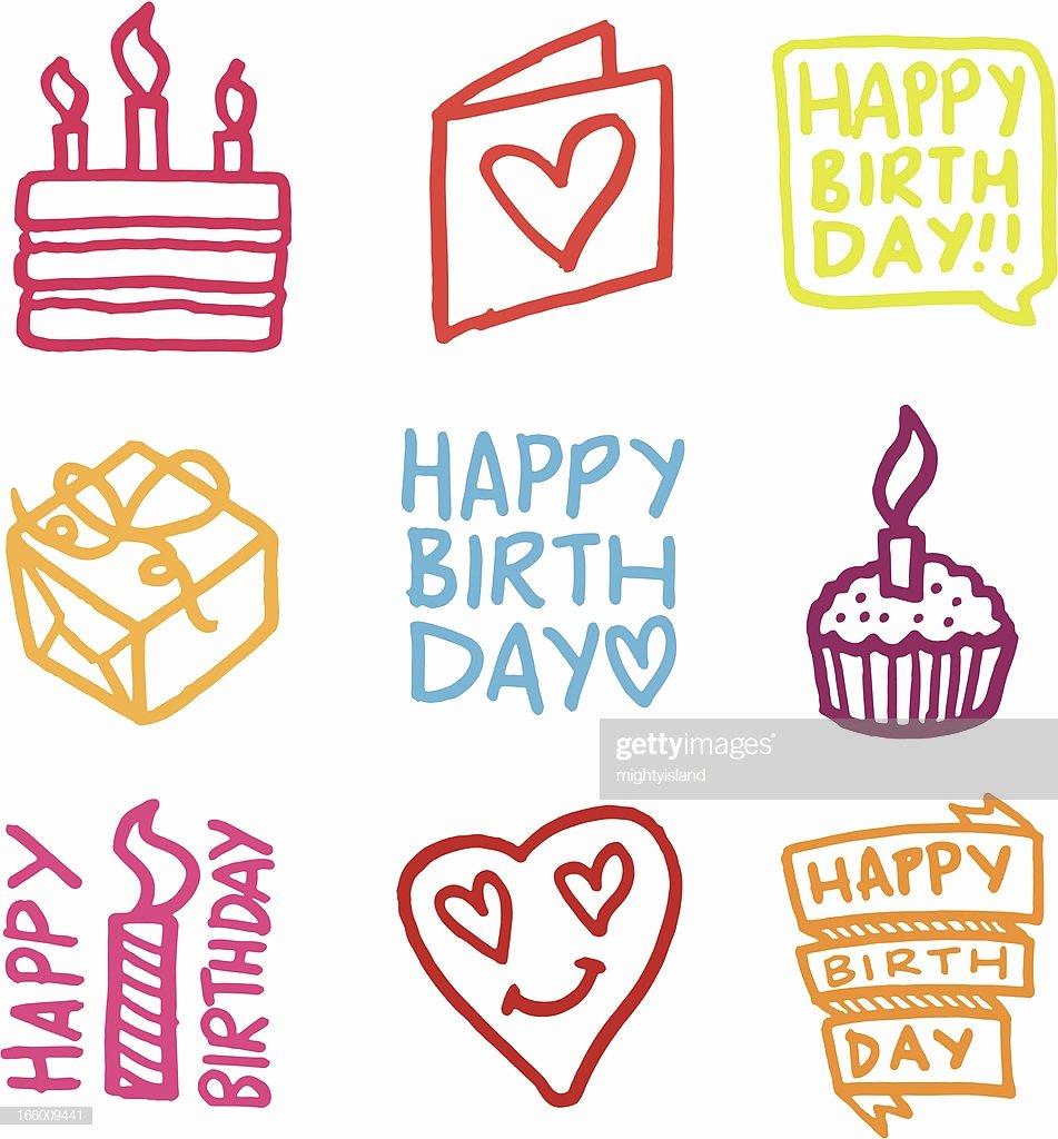 Happy Birthday Icons Free New Happy Birthday Icon Set High Res Vector Graphic Getty