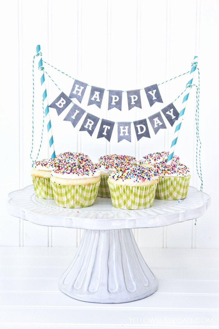 Happy Birthday Template for Cake Best Of Free Printable Happy Birthday Mini Cake Bunting