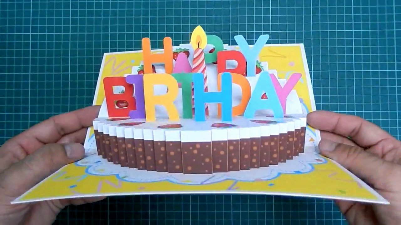 Happy Birthday Template for Cake Elegant Happy Birthday Cake Pop Up Card Tutorial Part Ii Candle