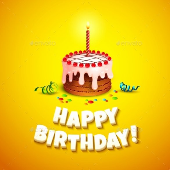 Happy Birthday Template for Cake Inspirational Birthday Card Template – 31 Psd Illustrator Eps format