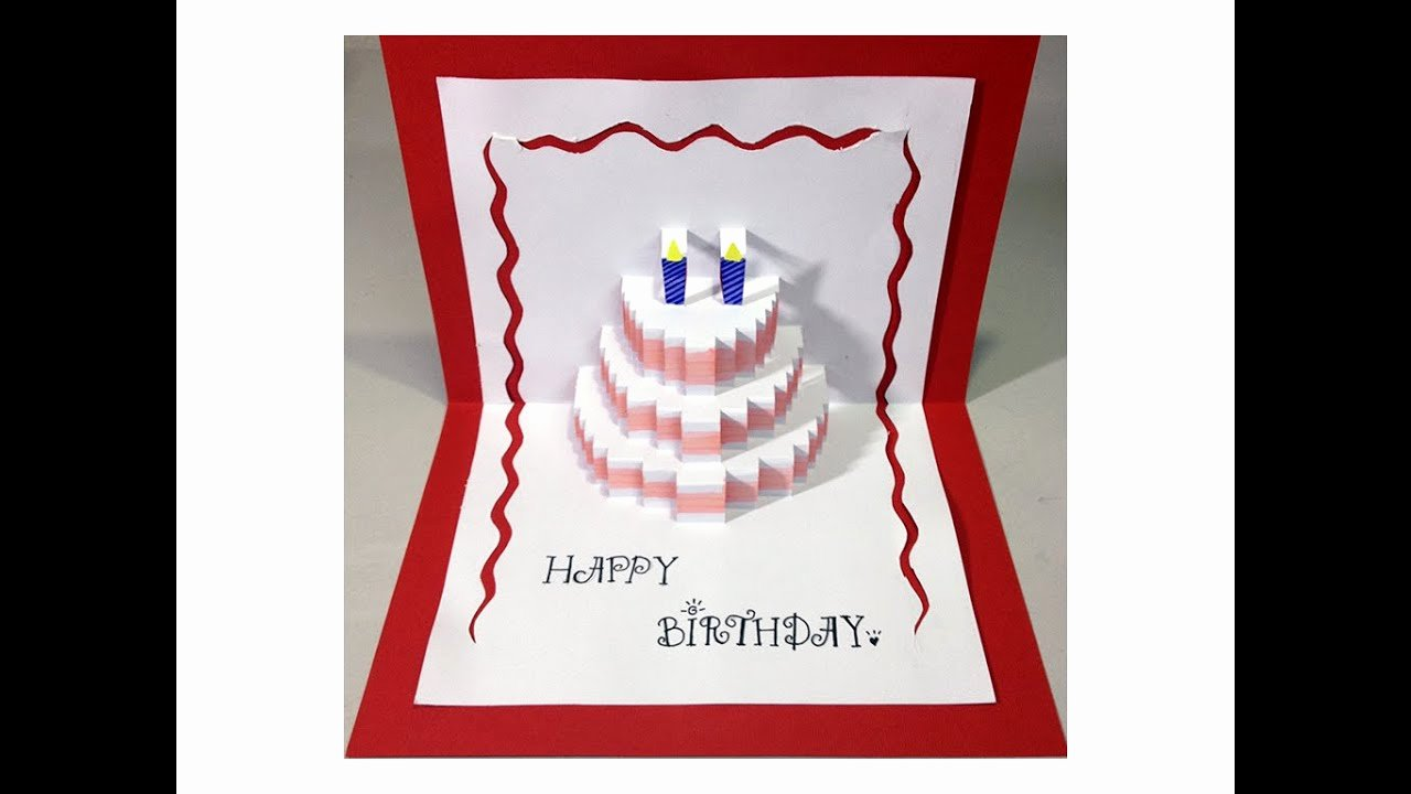 Happy Birthday Template for Cake Lovely Happy Birthday Cake Pop Up Card Tutorial