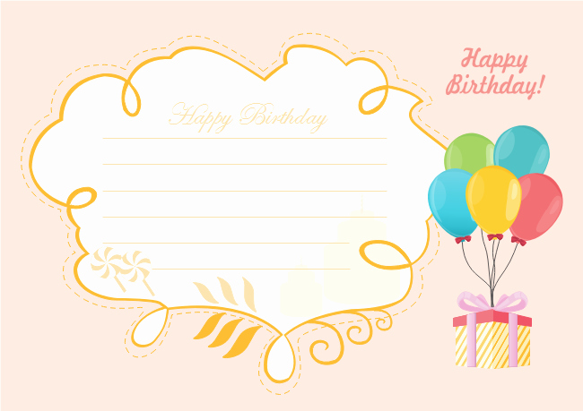Happy Birthday Template Free Best Of Happy Birthday Card