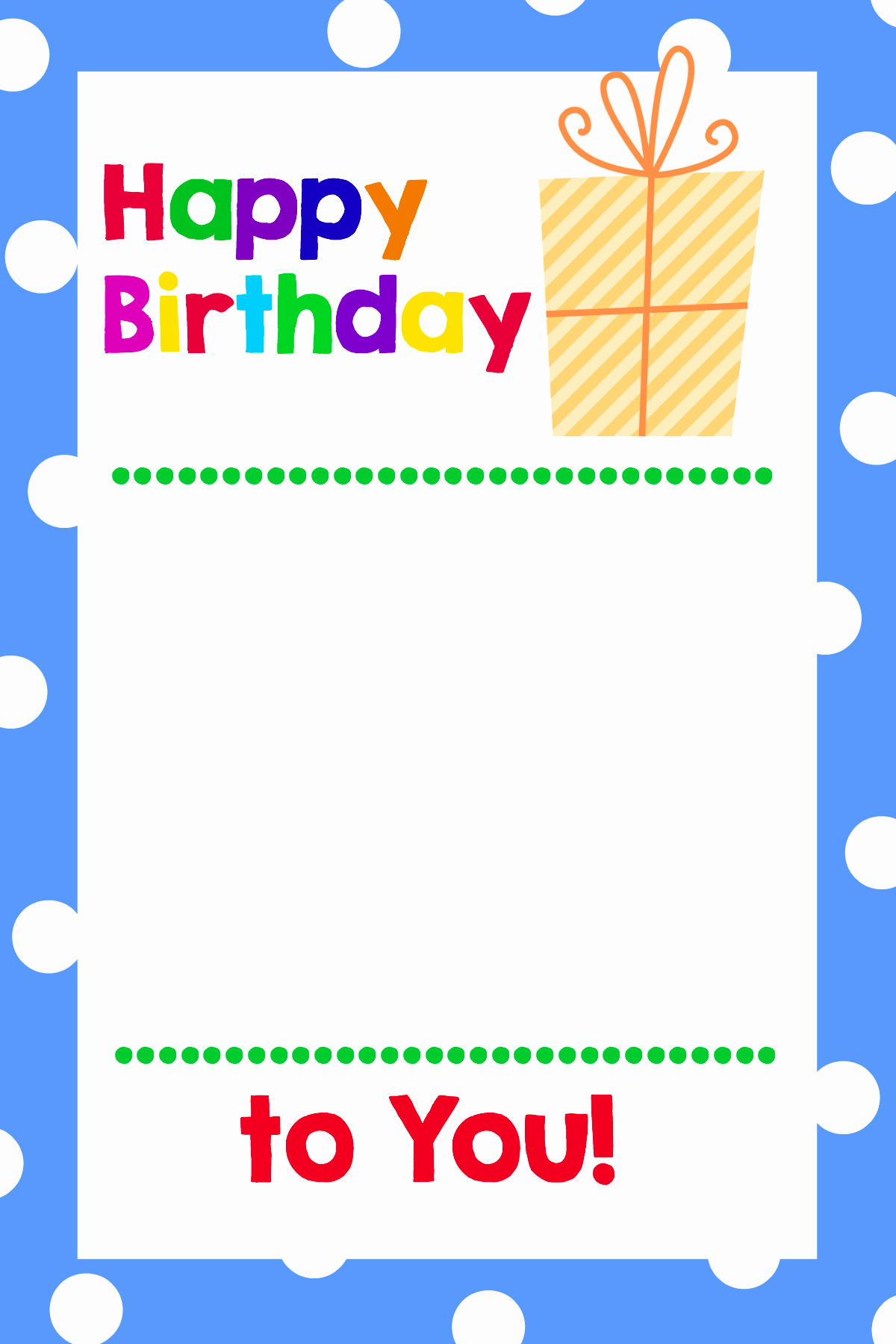 Happy Birthday Template Free Inspirational Free Printable Birthday Cards that Hold Gift Cards