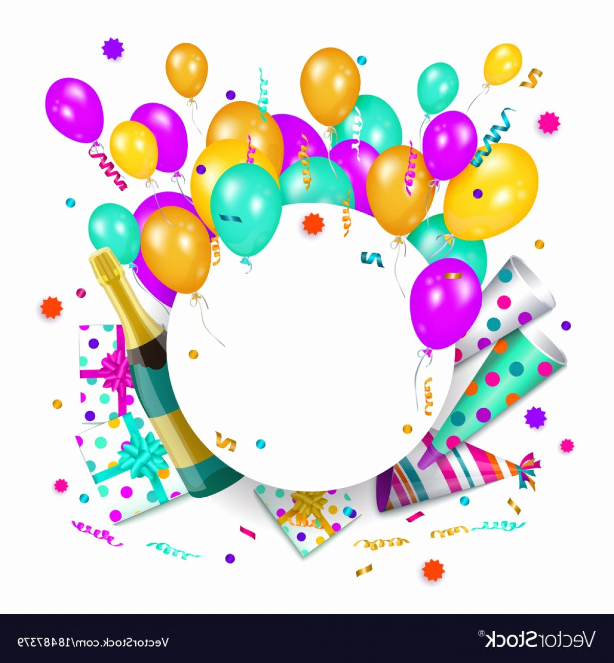 Happy Birthday Template Free Luxury Birthday Vectors Template Files