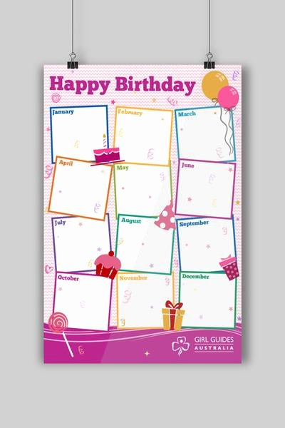 Happy Birthday to Me Poster Beautiful A3 Happy Birthday Poster – Ggq Guide Supplies