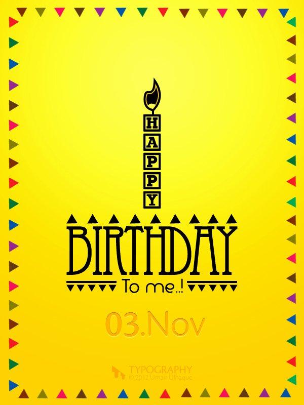 Happy Birthday to Me Poster Elegant Happy Birthday to Me On Behance