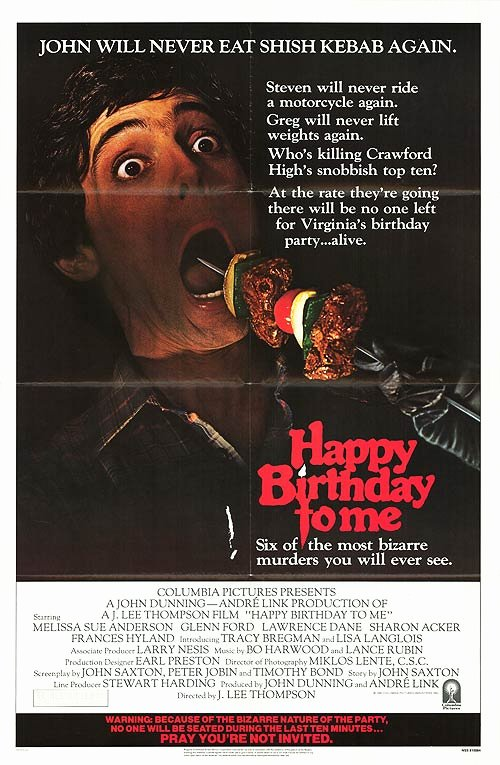 Happy Birthday to Me Poster Inspirational 20 Great Horror Movie Posters From the 1980s