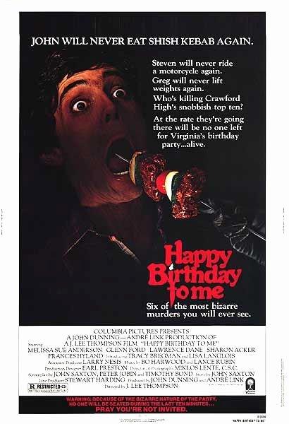 Happy Birthday to Me Poster Inspirational Emily S Playhouse Halloween Blog 1 80 S Horror Movie