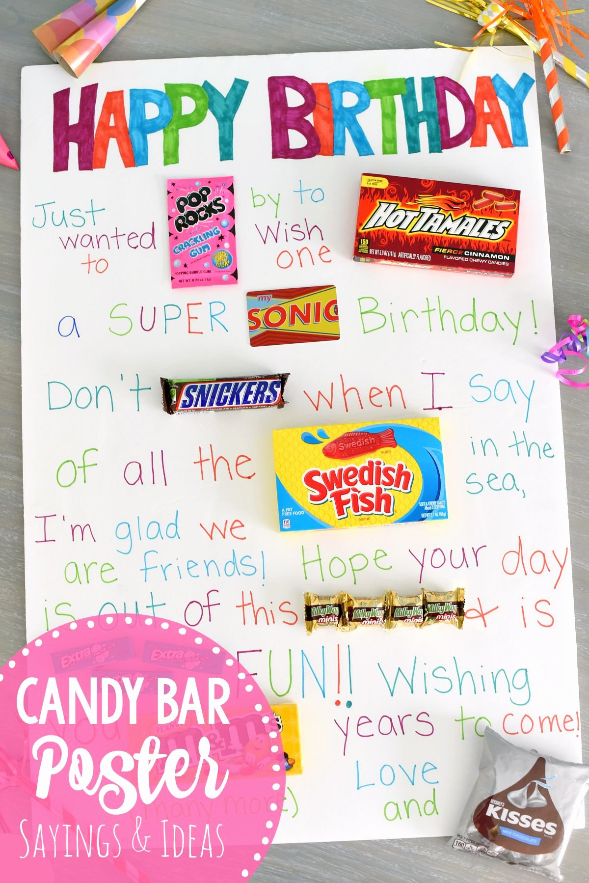 Happy Birthday to Me Poster New Fun & Simple Candy Poster for Friend S Birthday