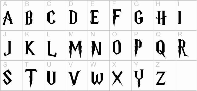 Harry Potter Font Style Best Of Harry Potter Letter Font