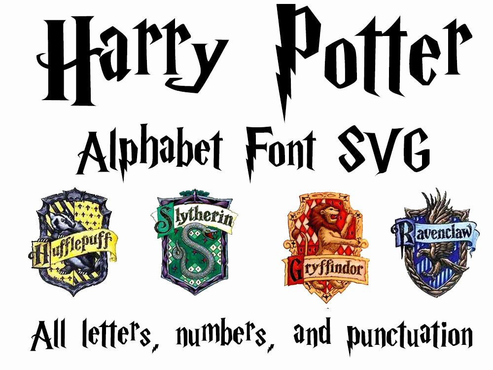 harry potter font svg harry potter