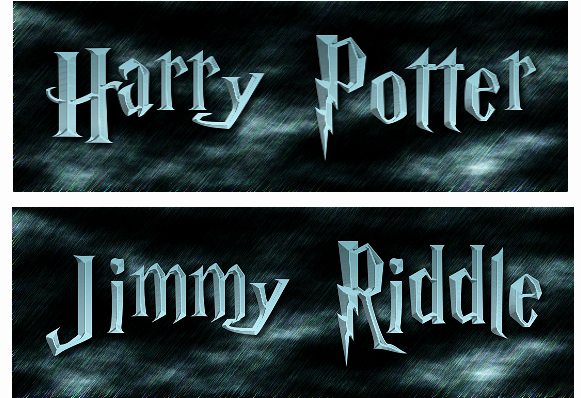 Harry Potter Font Style Inspirational Harry Potter Style Logo with Your Name On It for $5