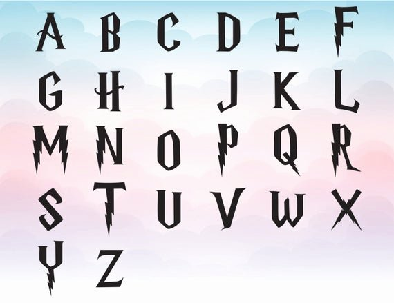 Harry Potter Font Style Luxury Harry Potter Svg Font Clipart Harry Potter Alphabet for