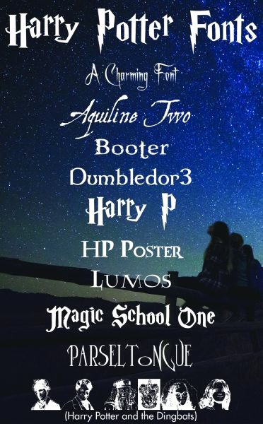 Harry Potter Font Style New Free Harry Potter Fonts More Than Thursdays