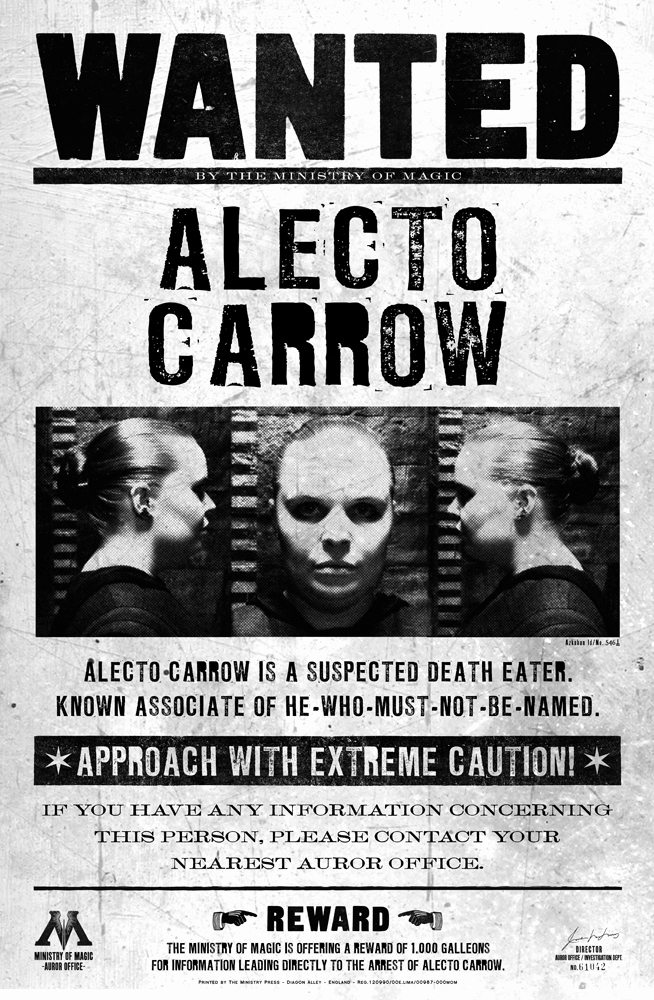 Harry Potter Wanted Poster Awesome Image Alecto Carrow Wanted Harry Potter Wiki