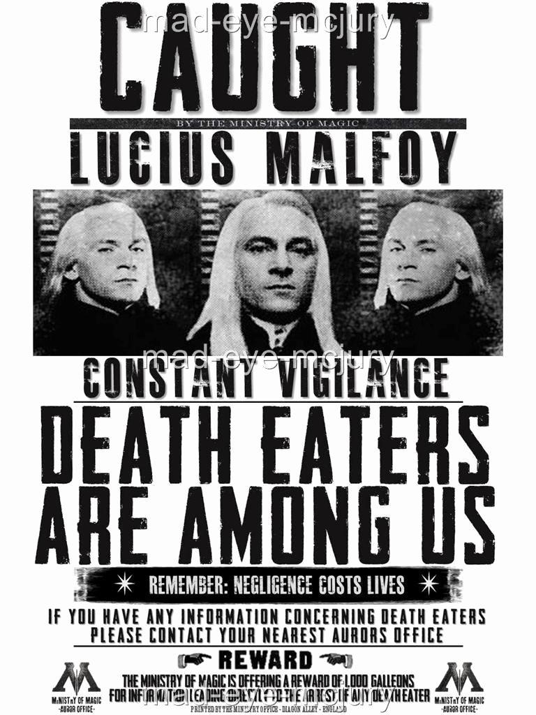 Harry Potter Wanted Poster New Harry Potter Hogwarts S Bellatrix Fenrir Lucious