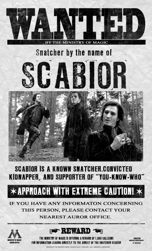 Harry Potter Wanted Poster Unique 9 Best Scabior Images On Pinterest
