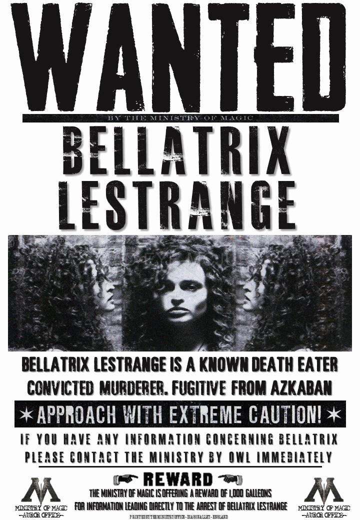 Harry Potter Wanted Poster Unique Harry Potter Hogwarts S Bellatrix Fenrir Lucius