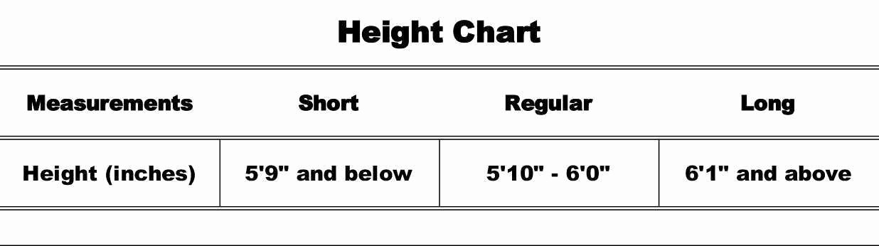 Height Chart In Inches Awesome Choosing Sizes for All Safeguard Clothing™ Products