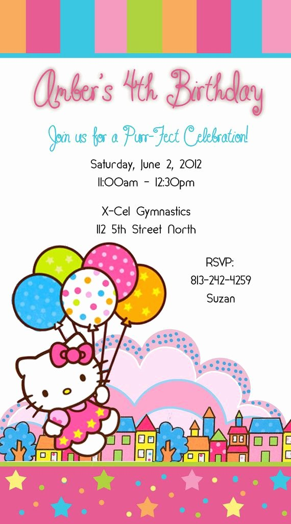 Hello Kitty 1st Birthday Invitations Awesome Best 25 Hello Kitty Invitations Ideas On Pinterest