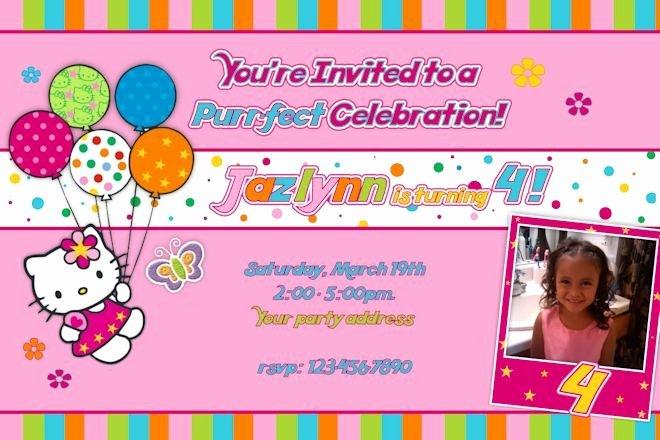 Hello Kitty 1st Birthday Invitations Best Of Hello Kitty Birthday