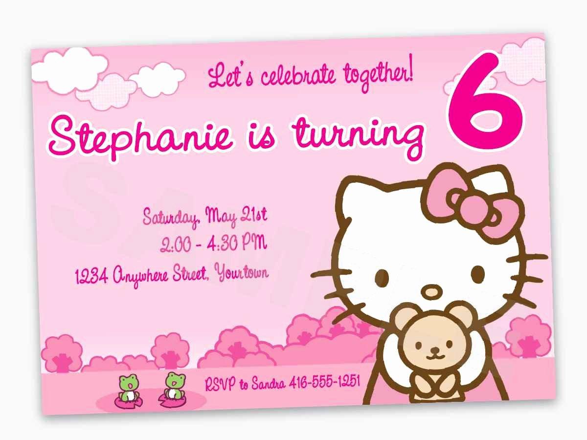 Hello Kitty 1st Birthday Invitations Lovely Hello Kitty First Birthday Invitations