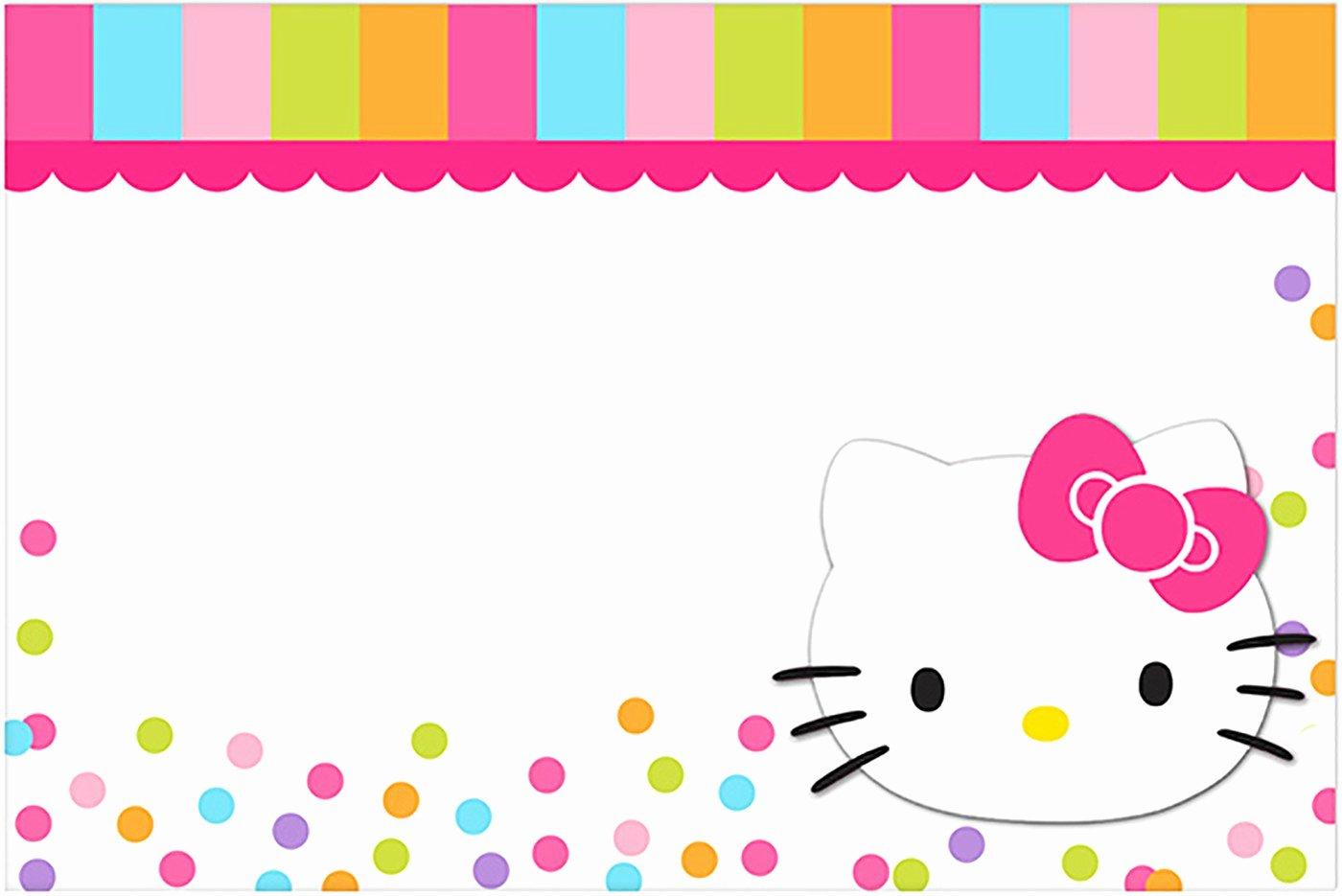 Hello Kitty 1st Birthday Invitations Lovely Hello Kitty Free Printable Invitation Templates
