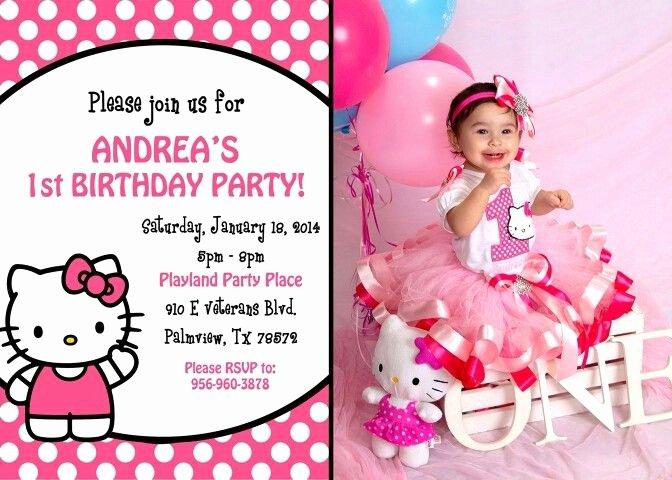 Hello Kitty 1st Birthday Invitations Luxury Hello Kitty 1st Birthday Invitations Free Invitation