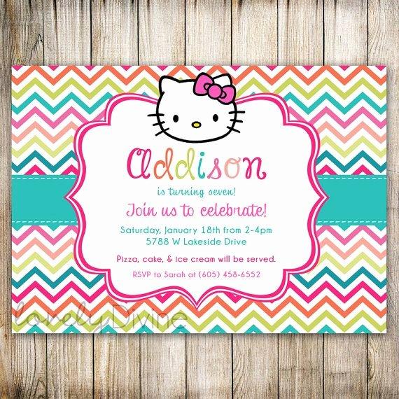 Hello Kitty 1st Birthday Invitations Unique Best 25 Hello Kitty Invitations Ideas On Pinterest