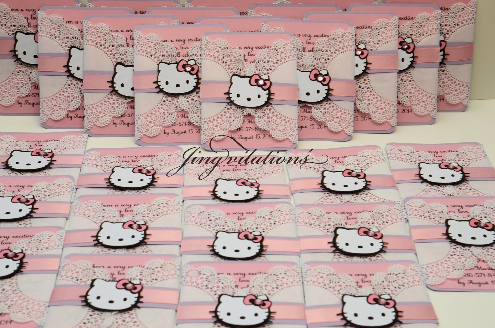 Hello Kitty Baby Shower Invites Awesome Birthday and Baby Shower Invitations Hello Kitty