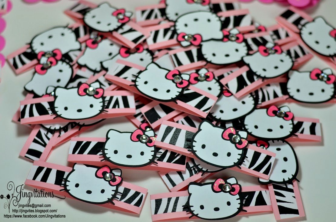 Hello Kitty Baby Shower Invites Awesome Jingvitations Hello Kitty Animal Print Baby Shower