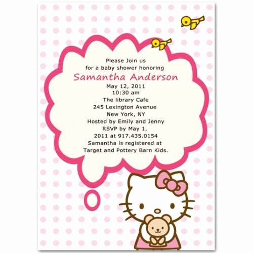 Hello Kitty Baby Shower Invites Beautiful 10 Best Hello Kitty Baby Shower Invitations Images On