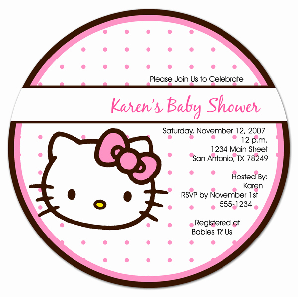 Hello Kitty Baby Shower Invites Best Of Hello Kitty Baby Shower Invitation Free