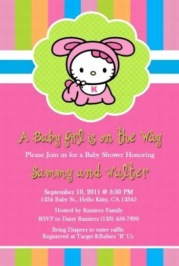 Hello Kitty Baby Shower Invites Elegant 101 Best Images About Baby Shower Invitations On Pinterest